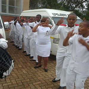 Students choir and traditional dancing